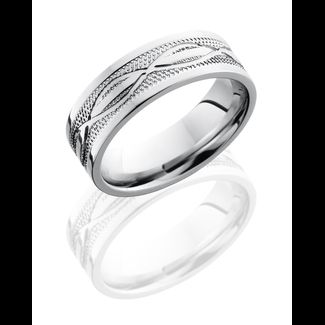 Mens wedding band with infinity symbol Marshall Jewelry Mens