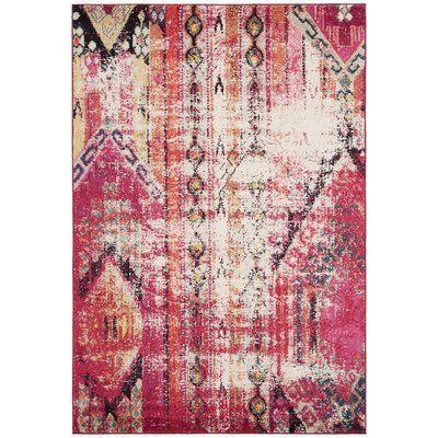 Photo of Mistana Indira Southwestern Pink Area Rug   Wayfair