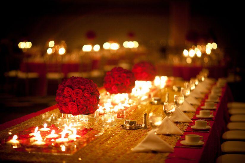 The Dinner Table After Wedding Ceremony Garrett Frandsen