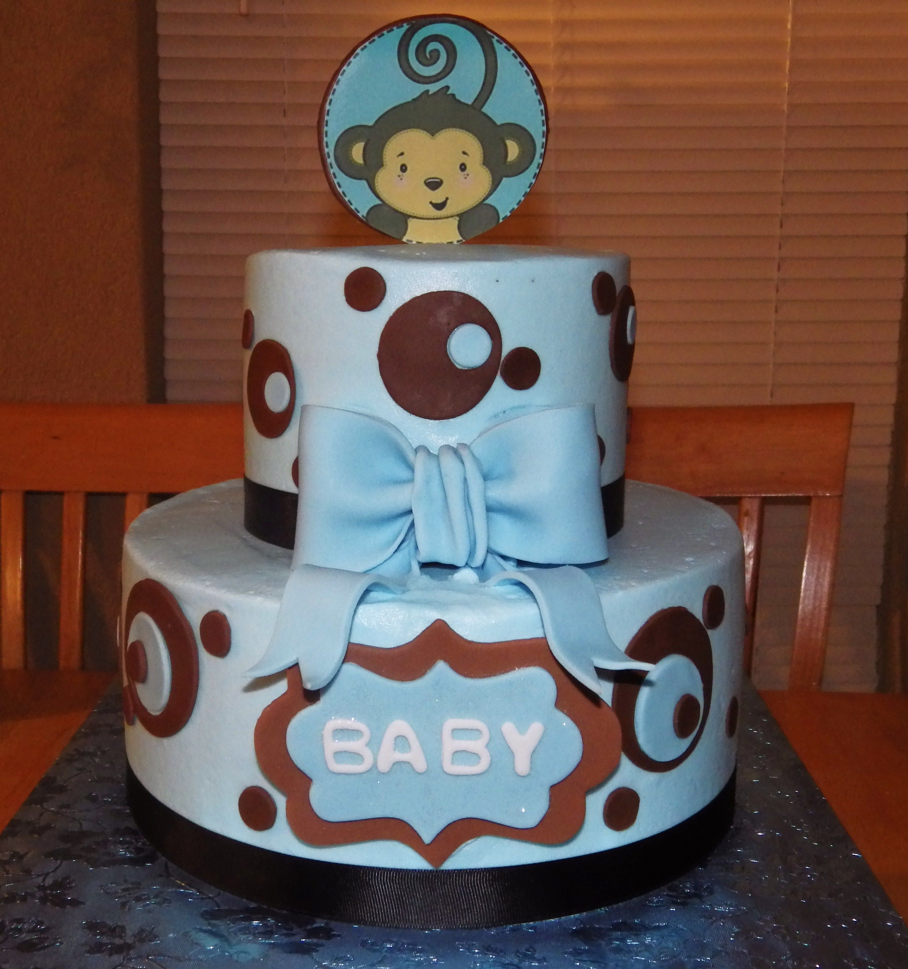 Baby Shower 10 inch 6 inch buttercream cake