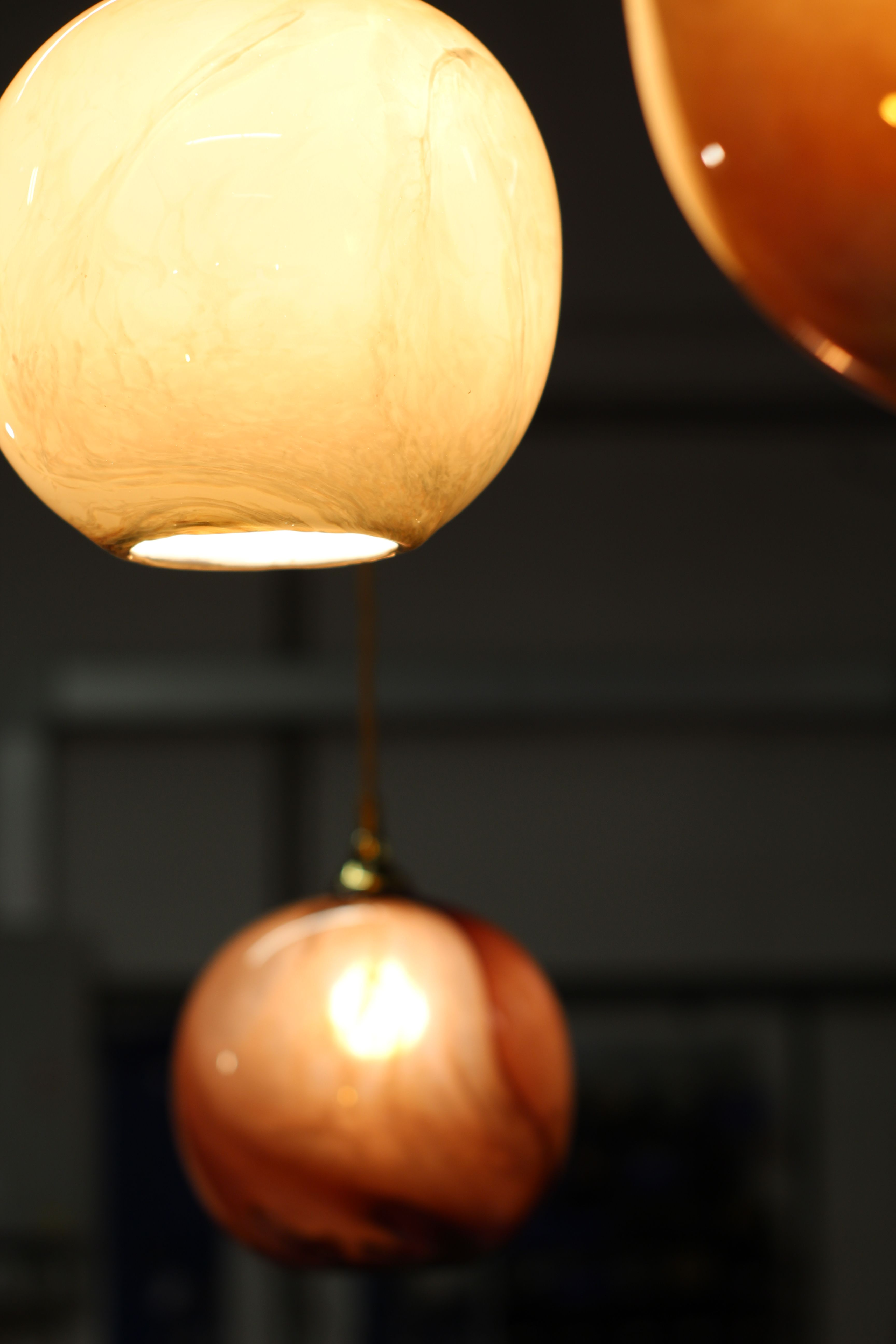 hand blown glass pendant lighting. Mineral Hand Blown Glass Pendant Lights In Agate Red And Marble Finish By Rothschild \u0026 Bickers Lighting