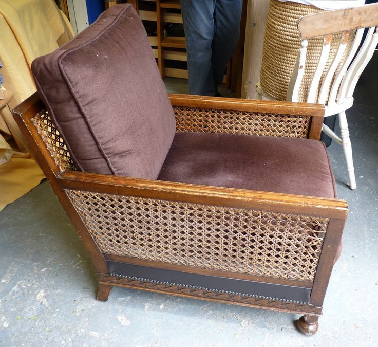 Vintage 1930 S Armchair Wood Amp Rattan Furniture Wood