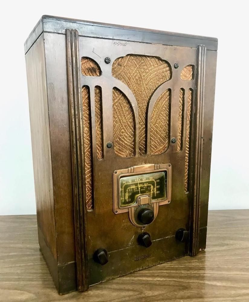 Details about ANTIQUE RCA TOMBSTONE RADIO ~ MODEL 5T~ 1936