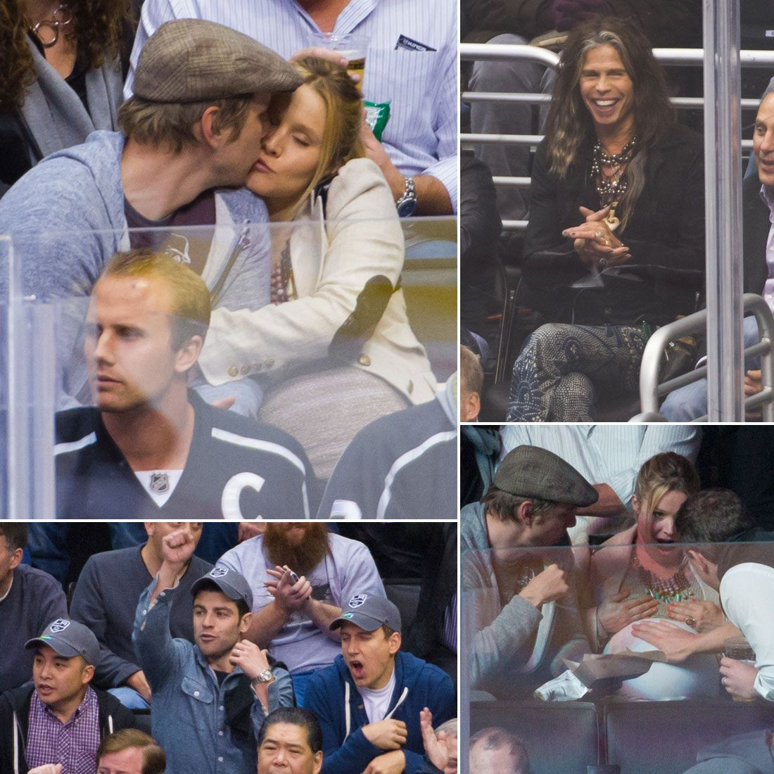 Kristen and Dax Show PDA and Hang With Pals at a Hockey Game | See all their cute pics from the game