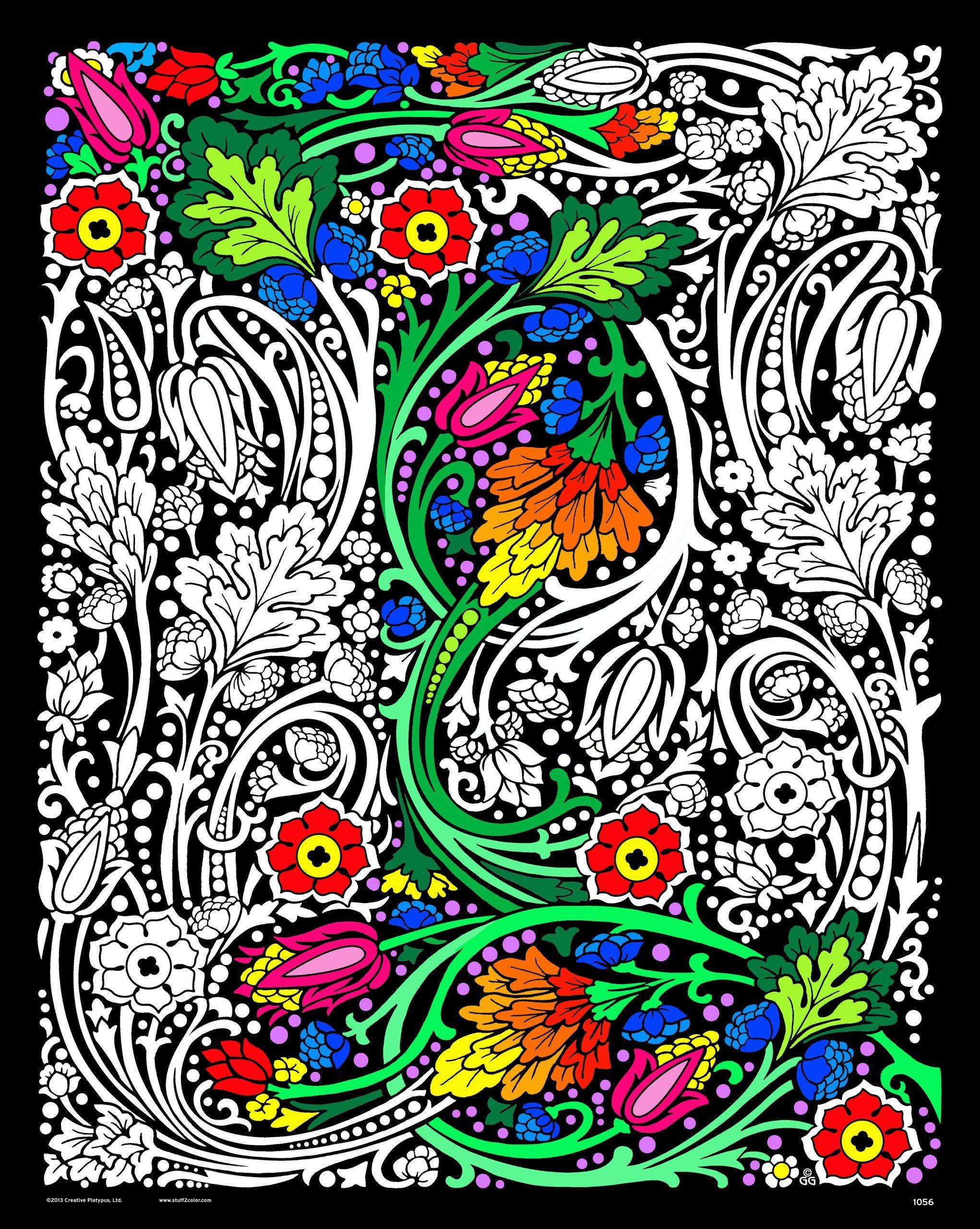 Floral Mania Fuzzy Velvet Poster 16x20