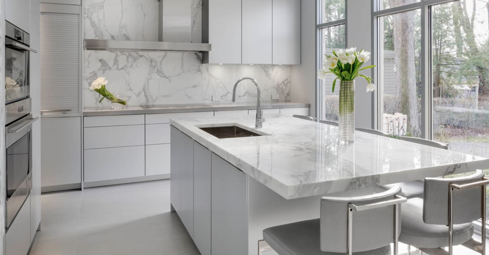Best Beautiful Calacatta Marble Kitchen By Cumar Inc 400 x 300