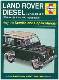 Wm0529 Haynes Land Rover Series 2a And 3 Diesel Repair Manual Land Rover Repair Manuals Land Rover Series