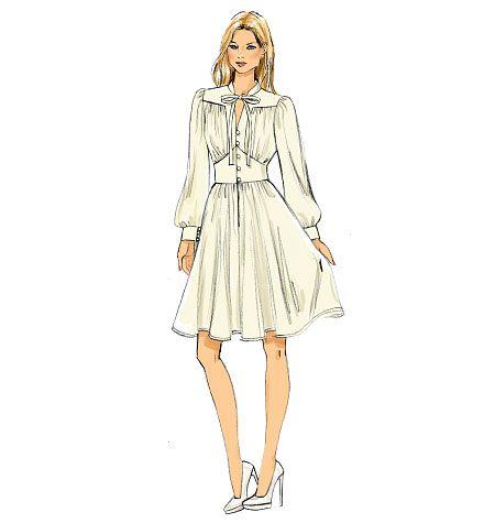 Vogue Patterns 9076 Misses Dress Ideias Fashion Ilustracoes De
