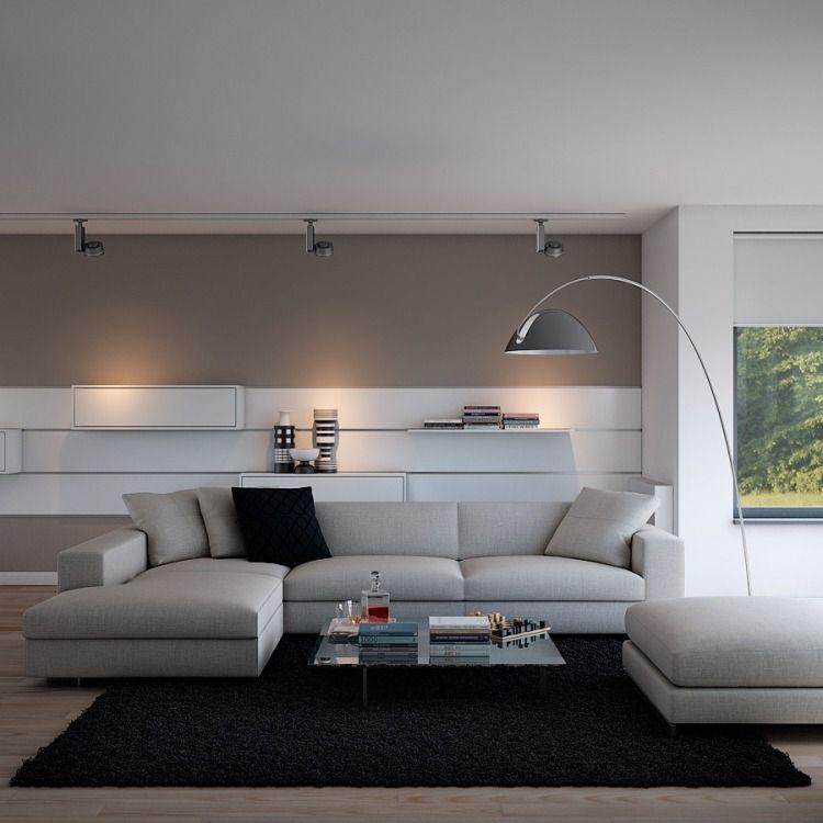 geräumiges minimalistisches WOhnzimmer Houses Pinterest Modern - wohnzimmer bilder modern