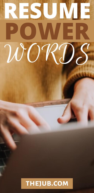 Resume Power Words in 2020 Resume power words, Powerful