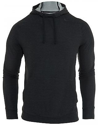 Nike Dri Fit Touch Fleece Hoodie Mens 728448-010 Black Pullover Hoody Size S
