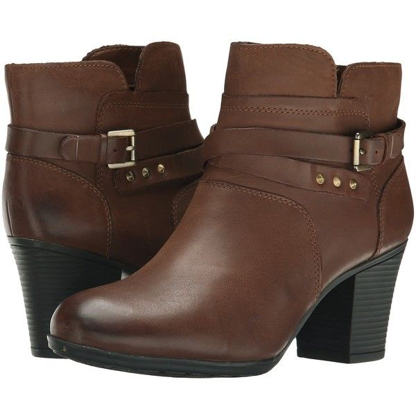 Rockport City Casuals Catriona Buckle Bootie (Nutella Nubuck) Women's...  (7,850 INR) ❤ liked on Polyvore featuring shoes, boots, ankle booties, ankle  boots ...