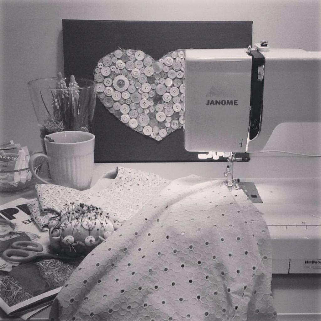 My sewing place #hetbrokantje