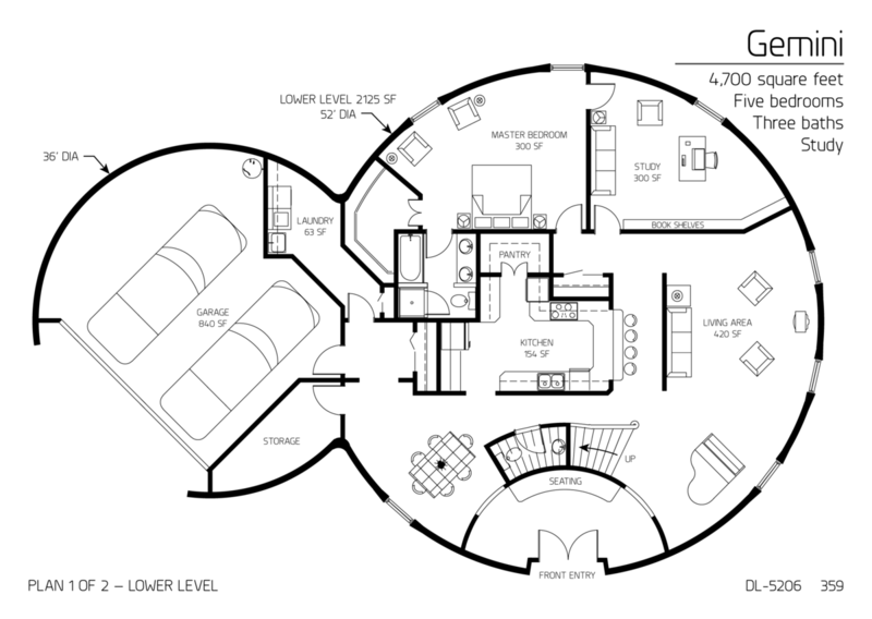 gallery: floor plan: dl-5206 | monolithic | dome homes | pinterest