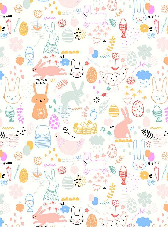 Easter Patter 2716 Jpg 550 746 Easter Illustration Best