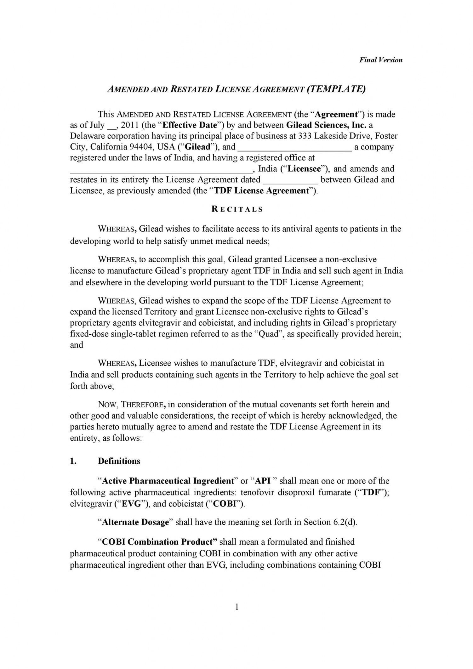 Browse Our Example Of Manufacturing License Agreement Template For Free Photography License Professional Graphic Design Wedding Photography Contract Template