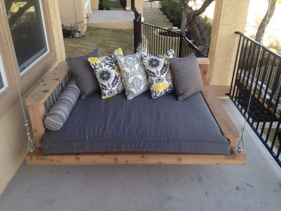 Porch Swing Bed Chaise Lounge Chair Outdoor By