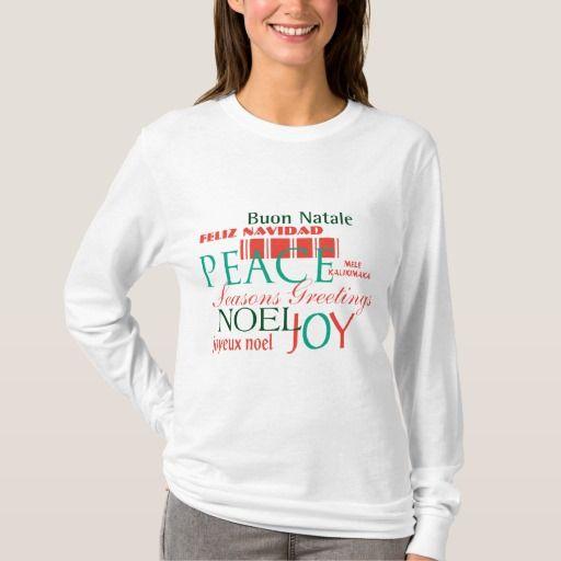 womens long sleeved christmas t shirt christmas tshirts pinterest