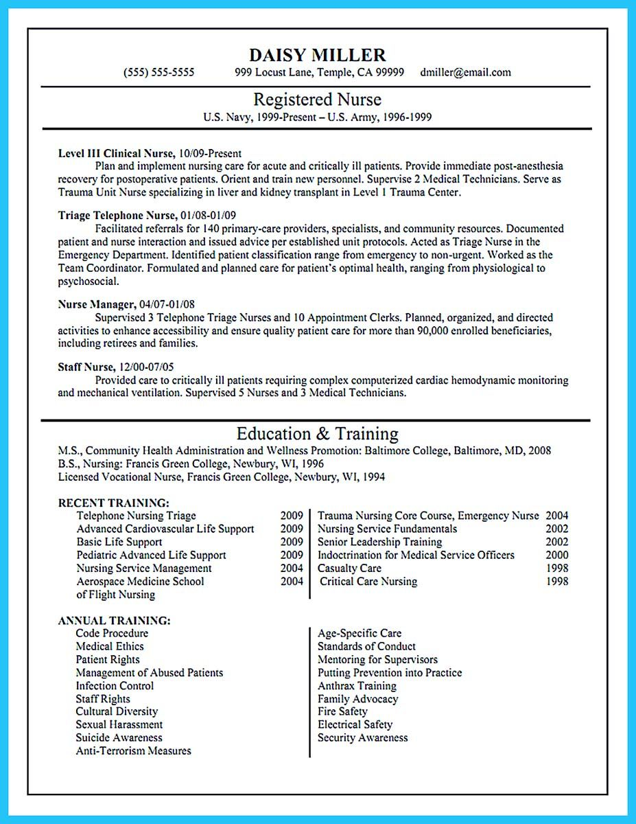 Sample Resume For Flight Nurse