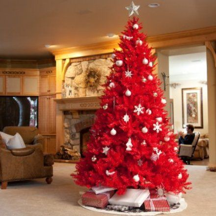 Amazing Christmas Trees Decorated In Red