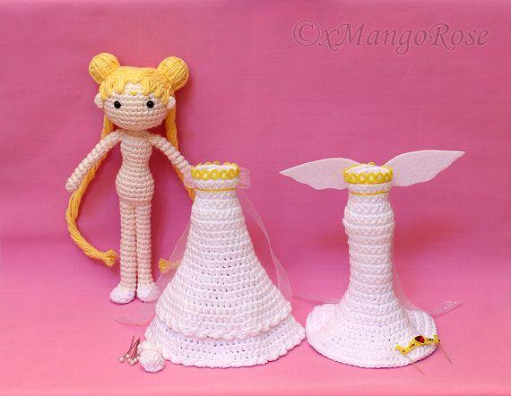 Amigurumi Doll Anime : Princess neo queen serenity amigurumi doll with changeable