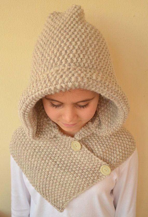 Hand Knit Hooded Cowl   mtnr   Pinterest   Wunderkind, Stricken und ...