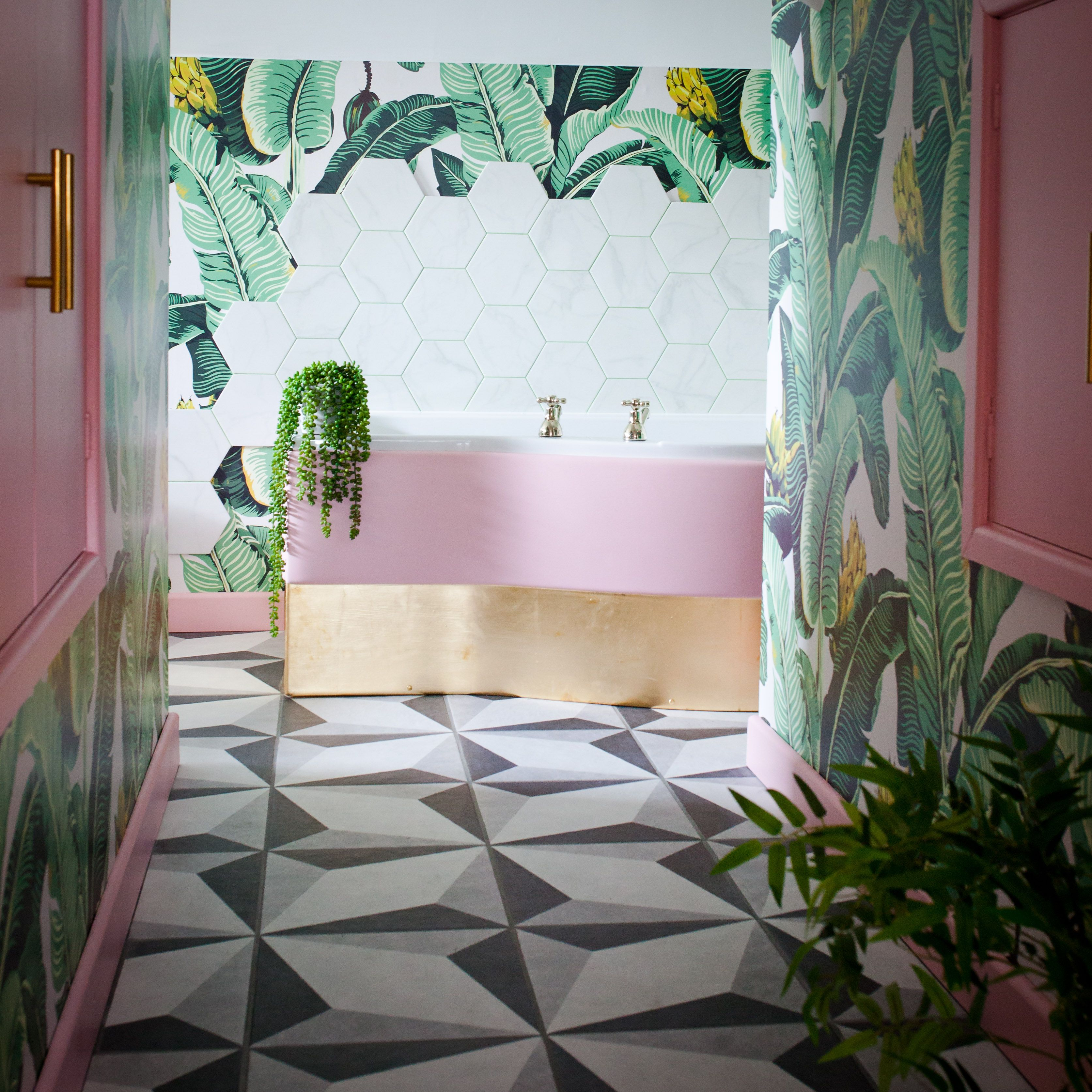 Kingdom Palm Wallpaper Tropical Botanical Decor With Images