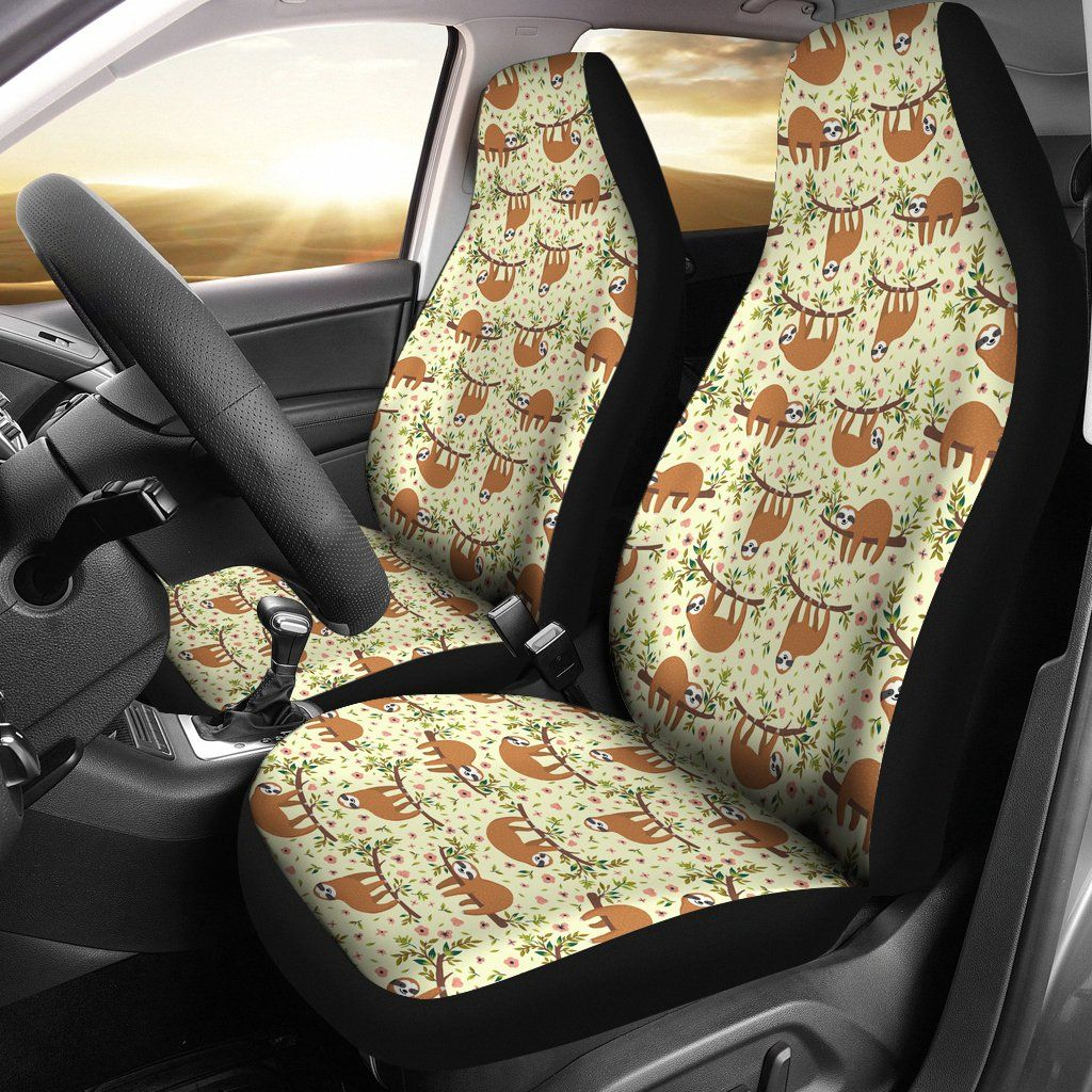 Floral sloth car seat covers car seats carseat cover