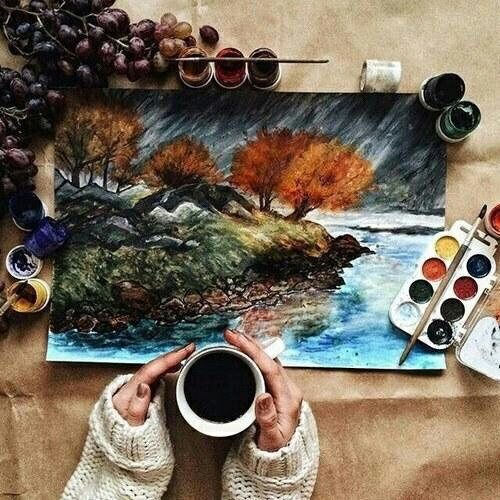 art, autumn, and draw imageの画像