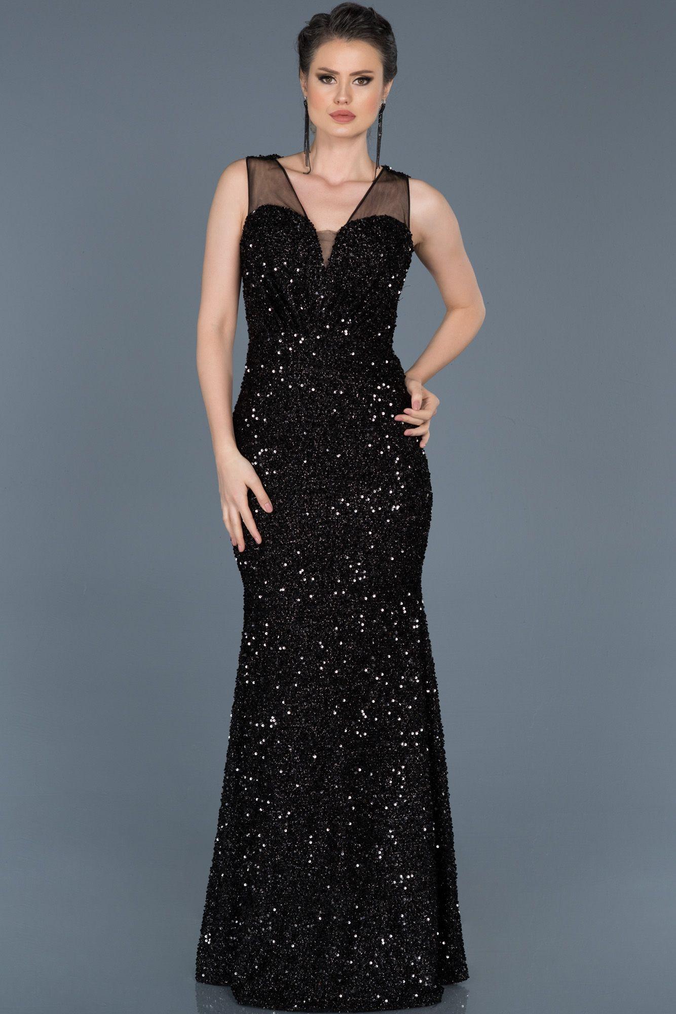bea961eb0495c Payetli Balık Abiye Elbise ABU579 | 2019 Trend Abiye Elbise ...