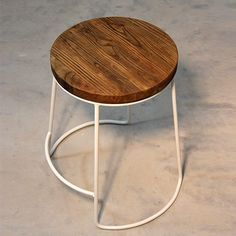 Emery Stool - White by RedCartel #MONOQI #industrial