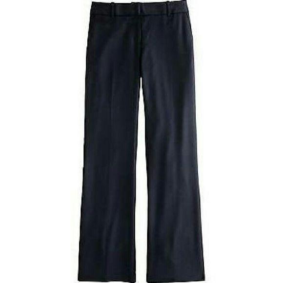 J Crew city fit navy dress pants J Crew size 6 city fit navy dress pants. Straight leg. Comfortable. No wear whatsoever. Just a little big on me. Regular length pants. J. Crew Pants Straight Leg