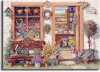 ART ~Janet Kruskamp: Fancy Flower Shoppe