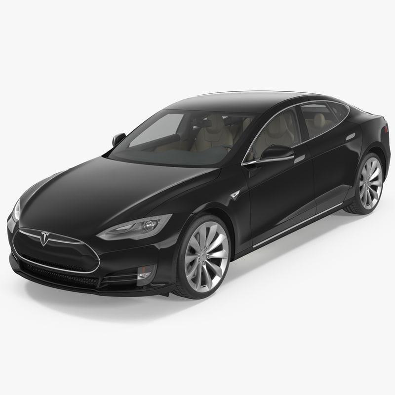 Tesla Model S P100d 2015 3d Model Ad Model Tesla P100d Tesla Model S Tesla Model Model