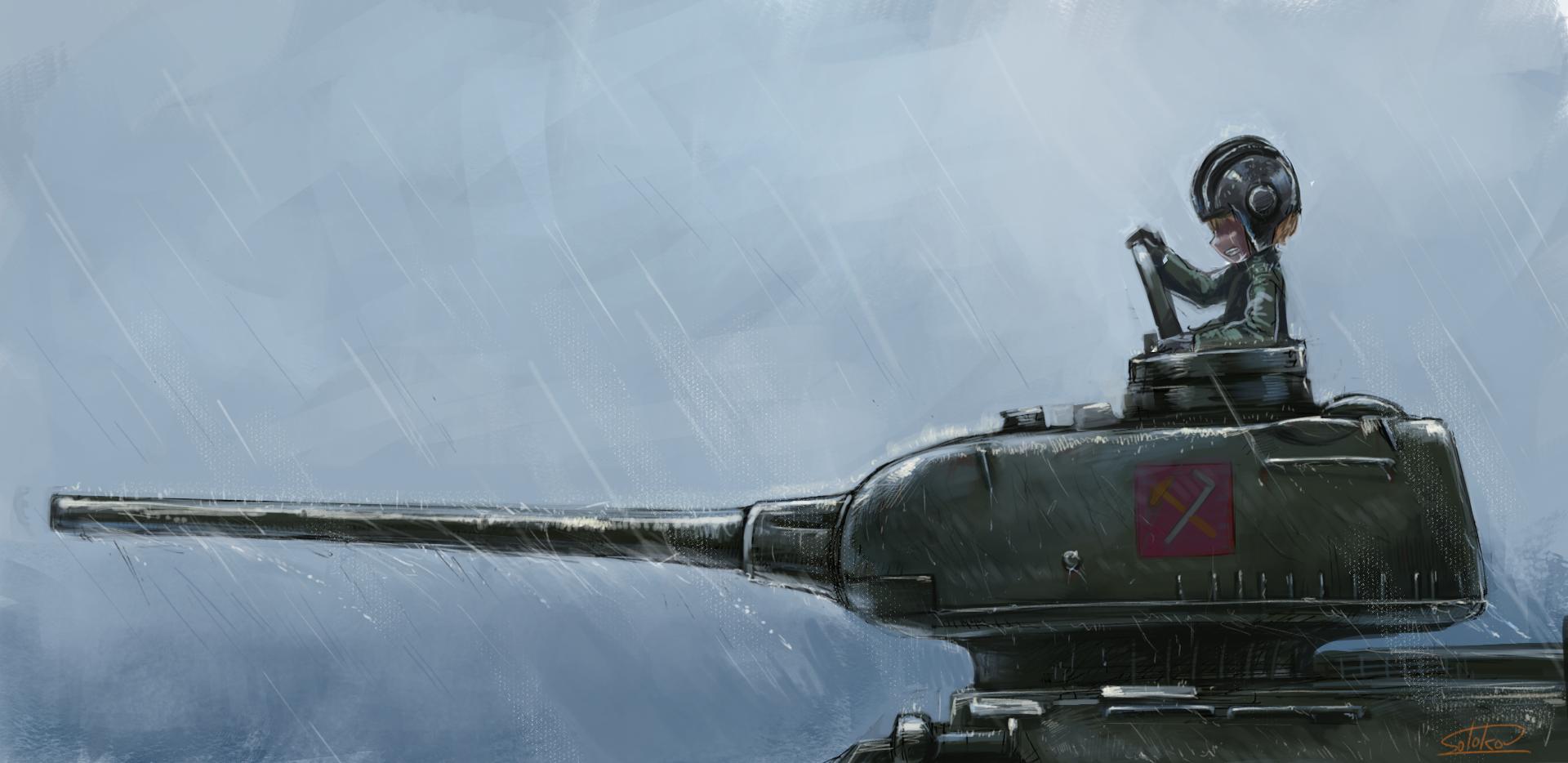 Heavy Rain Girls Und Panzer Anime Military Anime Tank Tank Girl