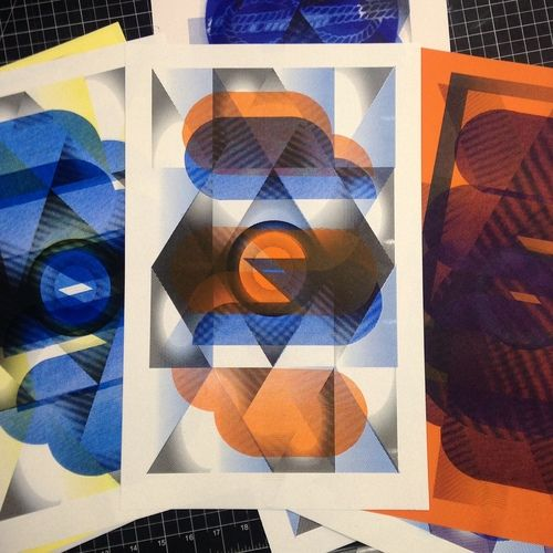 Risograph Prints by Sarah Shebaro of Striped Light Press, Knoxville, TN