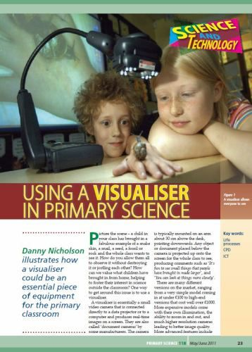 Using a Visualiser in Primary Science