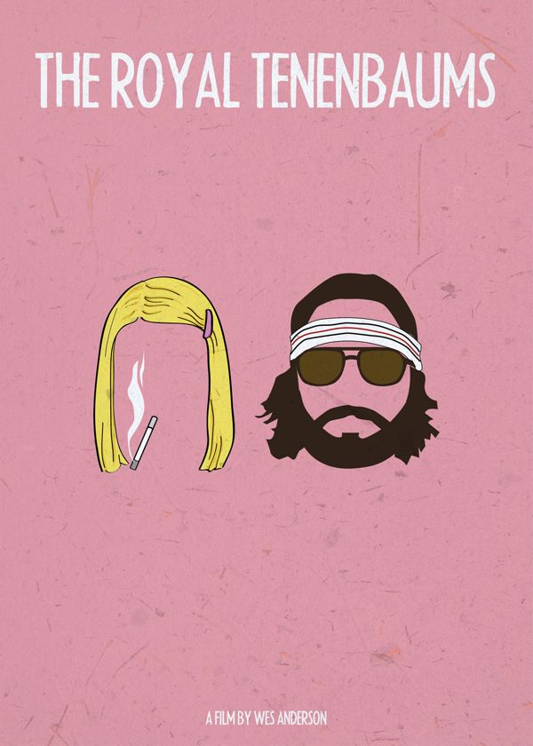 the royal tenenbaums 2001 minimal movie poster by