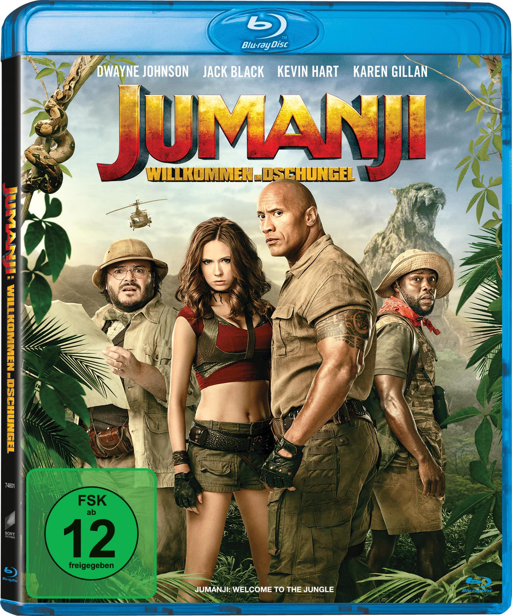 Jumanji Willkommen im Dschungel Blu ray auf Blu ray online kaufen ...