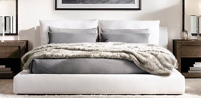 Rh S Upholstered Beds Collections At Restoration Hardware