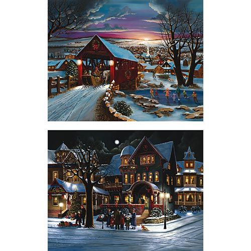 Set of 2: The Joy of Christmas 1000 Piece Jigsaw Puzzles