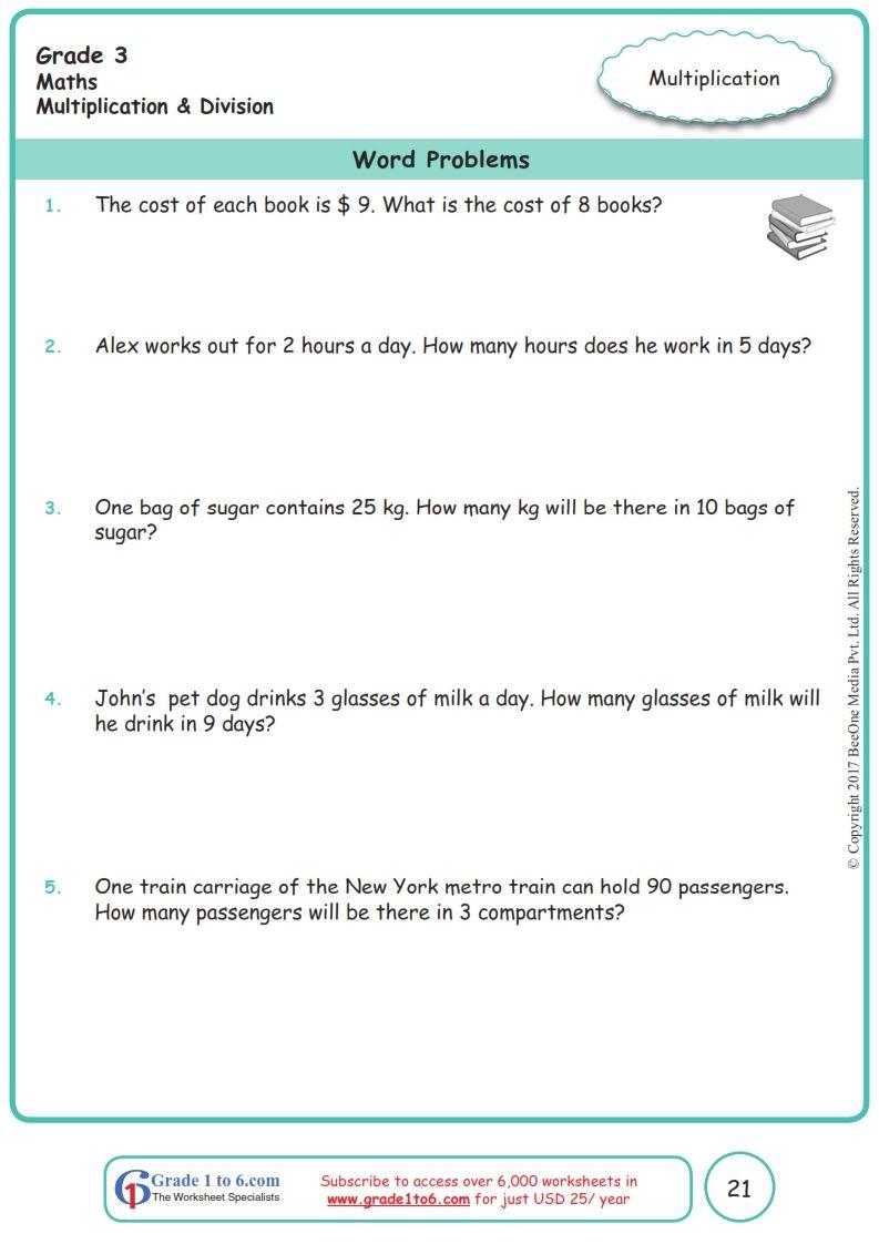 Worksheet Grade 3 Math Word Problems In 2020 Word Problem Worksheets Word Problems Free Math Worksheets