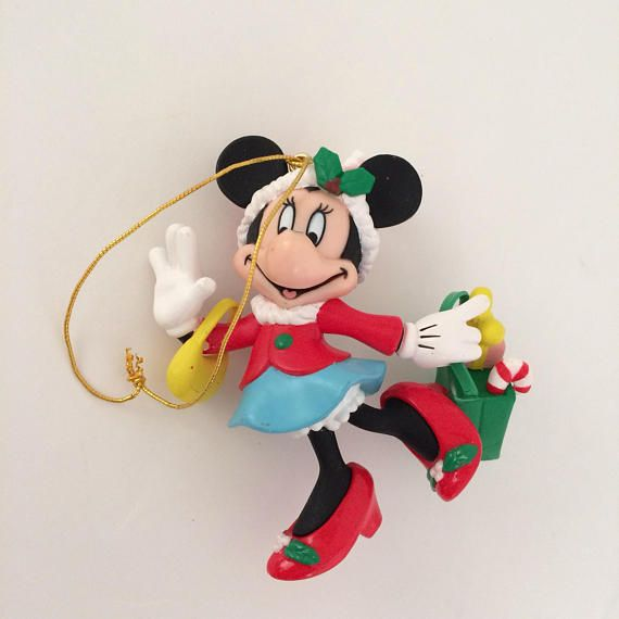 ETSY CLEARANCE SALE! Vintage Minnie Mouse Christmas Ornaments Disney