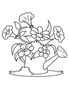 Ausmalbild Blumen In Der Giesskanne Kostenlose Ausmalbilder Blumen Ausmalbilder Ausmalbilder