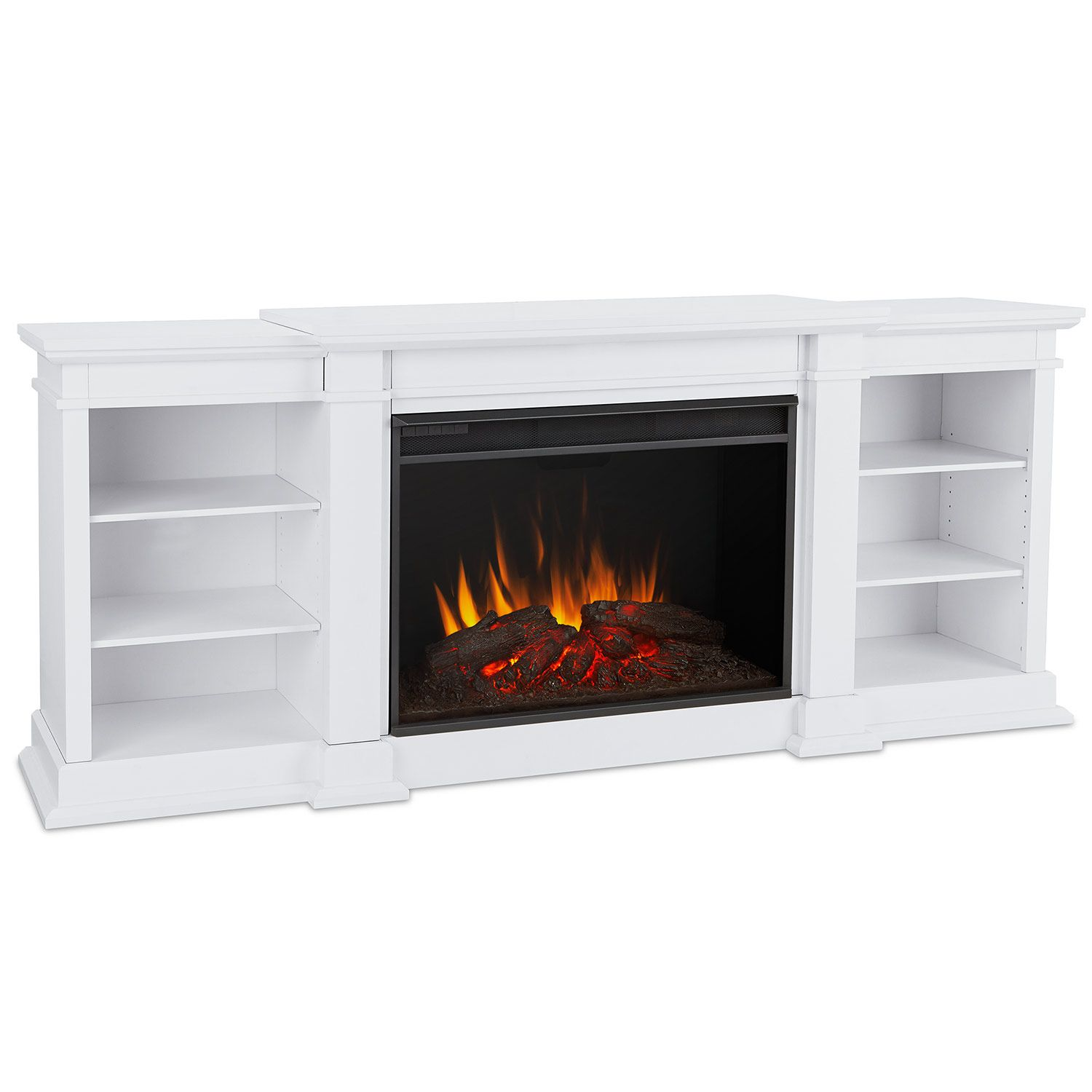 Real Flame Eliot Grand 81 Tv Stand Ventless Electric Fireplace