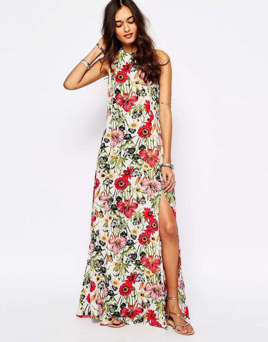 Images of Printed Maxi Dress - Reikian