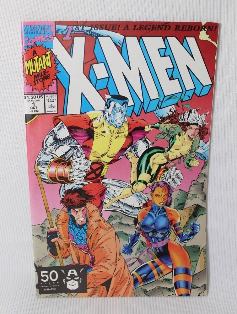 Vintage October 1991 X Men Marvel Comics Comic Book 1st Issue In 2020 Marvel Comics Covers Marvel Comic Books Jim Lee Art