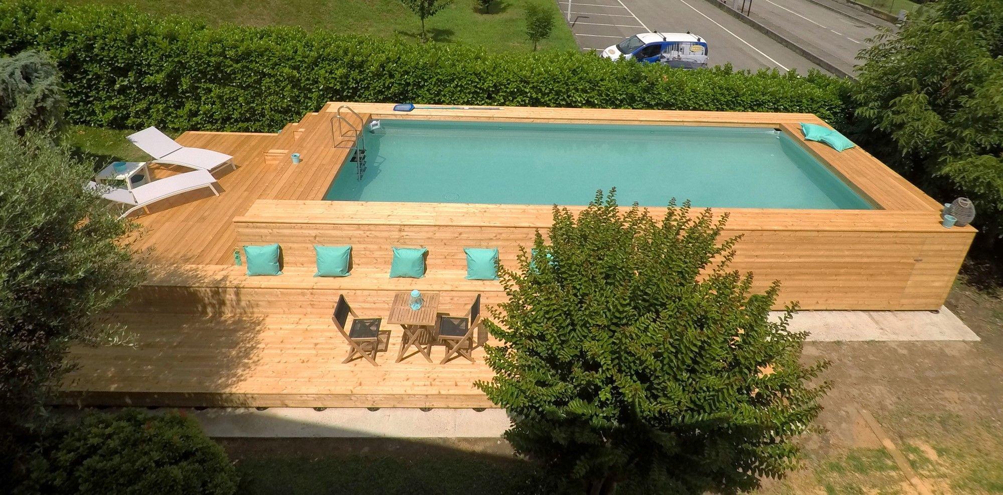 Piscine Da Esterno Rivestite In Legno le 48 più belle piscine fuori terra rivestite piscine (com