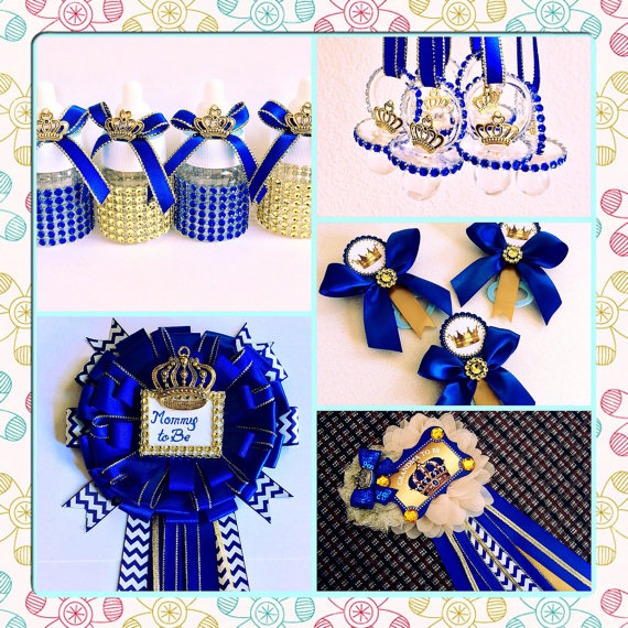 12 Royal Blue Baby Shower Favors   Little Prince Baby Shower  Royal Blue  Baby Shower  Royal Prince Baby Shower  Royal Blue And Gold Baby