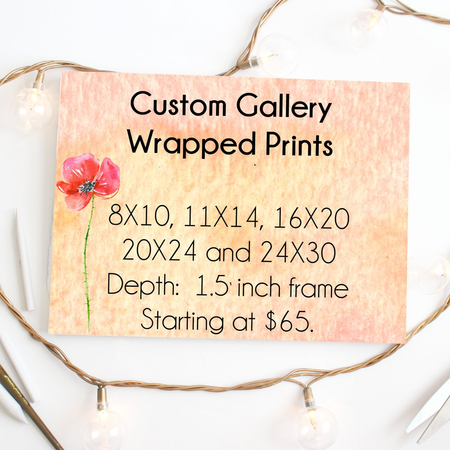 Custom Canvas Gallery Wrapped Fine Art Print: Any Print from My ...